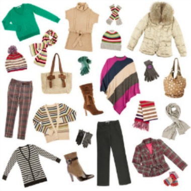Women's winter clothing wardrobe
