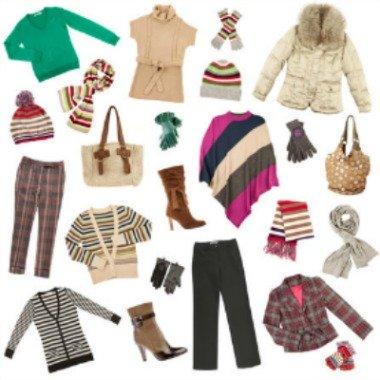 Women's winter clothing wardrobe