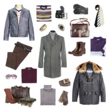 Men's winter clothing wardrobe